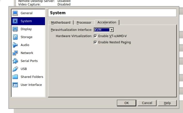 VirtualBox Hardware Virtualization