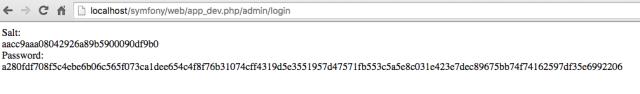 Symfony2 password change