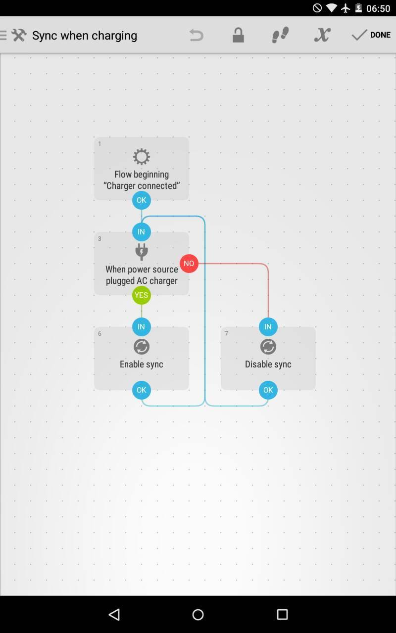 Android Automate app flow
